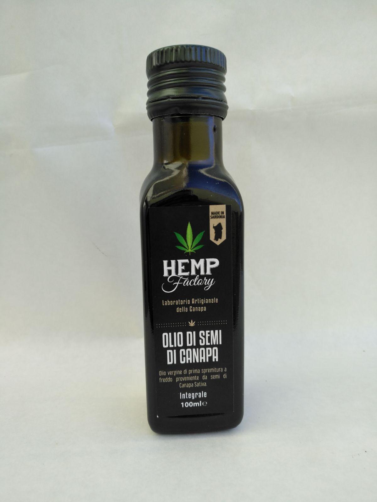 olio di canapa hemp factory fronte